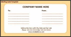 Download free Mailing Label Template