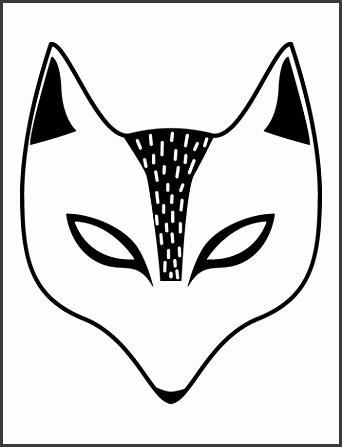 Free Kid s Halloween Mask Fox Mask