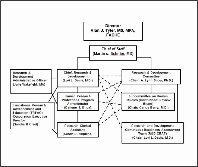 Printable Organizational Chart Template 04