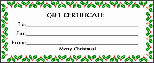 Christmas Blank Gift Certificate Template Free Fresh Free Gift Certificate Holiday with 30 Kb Gif Free