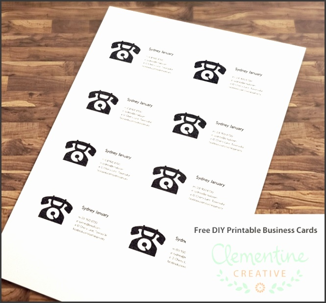 8 free printable business card templates sampletemplatess free diy printable business card template reheart Images