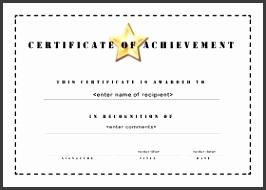 Free Printable Certificates of Achievement A4 Landscape Stencil Formal Certificate Template