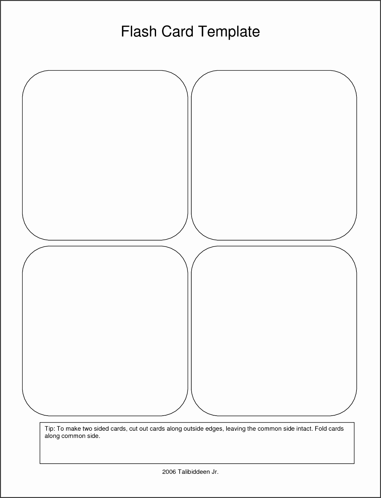 It is an image of Punchy Printable Flashcard Template