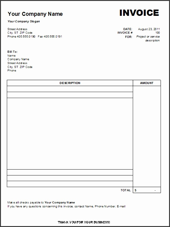Free Printable Invoices Templates Free Printable Invoice Printable Invoice Template Free