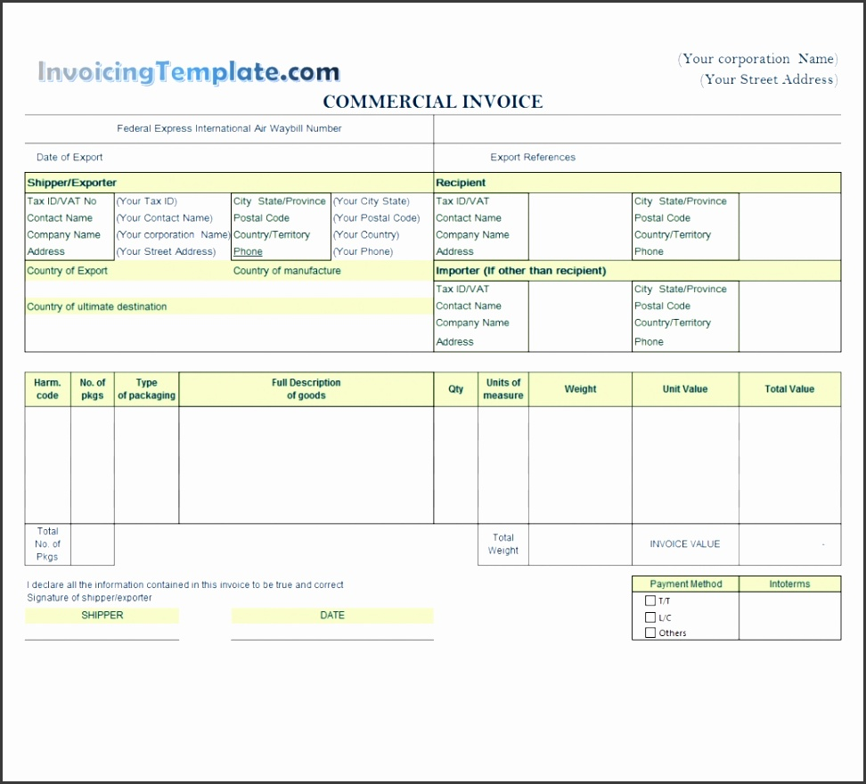Free printable · Editable Invoice Templates For Excel Yoga Invoice Template Word