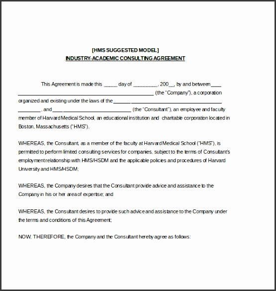 Industry Accademic Consulting Agreement