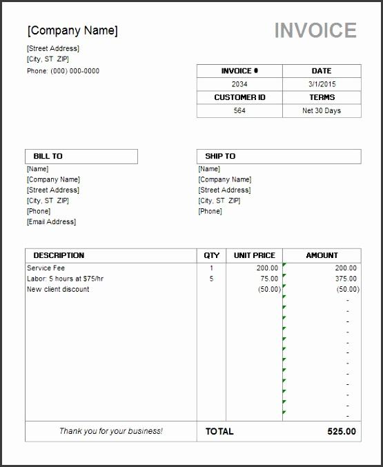 Microsoft Invoice Template Microsoft fice Word Invoice Template Denryoku