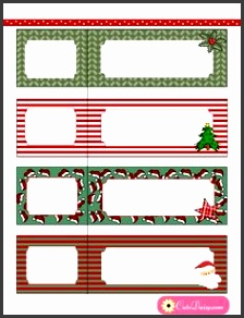 Free Printable Address Labels for Christmas
