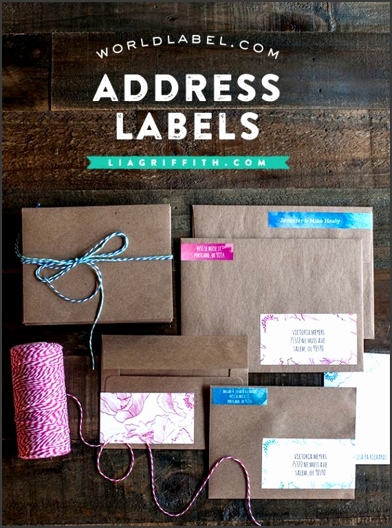Free Address Labels from Lia Griffith