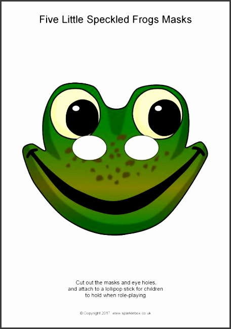 Five Little Frogs Role Play Masks SB Simple printable