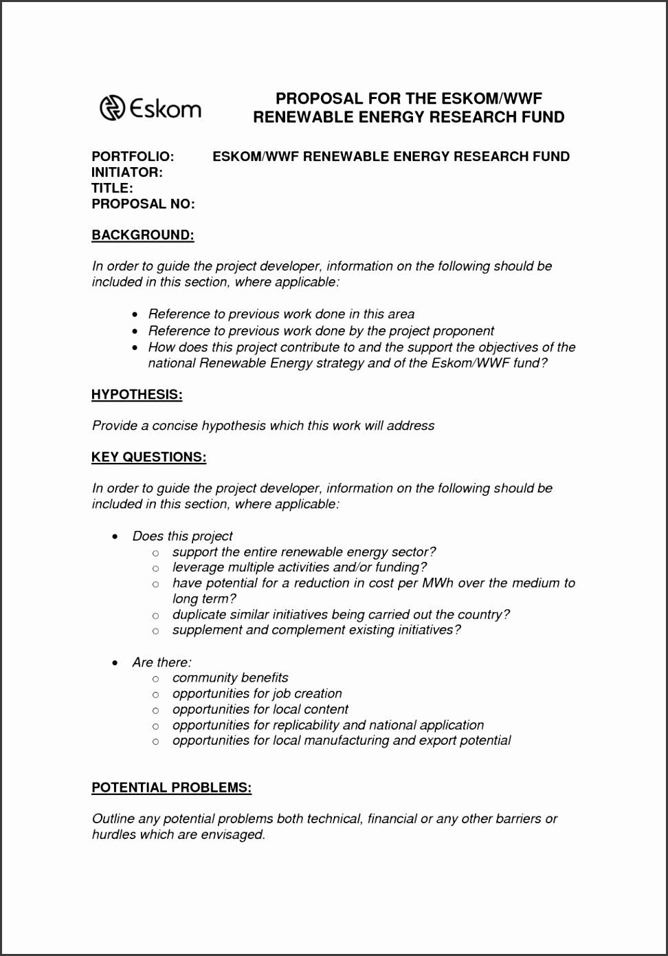 e page proposal template experimental depict 8 procedure sample inside Template large