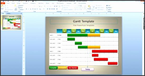 powerpoint gantt chart template gantt template for powerpoint