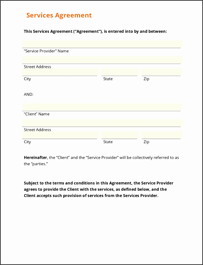 Exelent General Service Agreement Template Pictures Example Resume - General service contract template