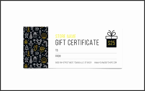 Christmas Wishes Gift Certificate Design Template