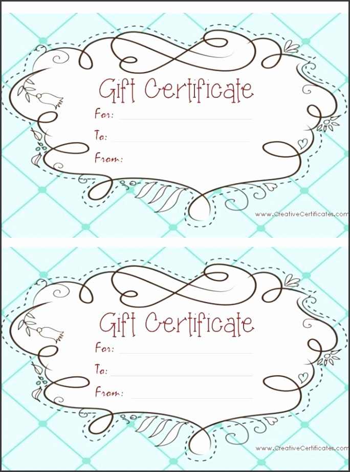light blue t certificate template with a cute design