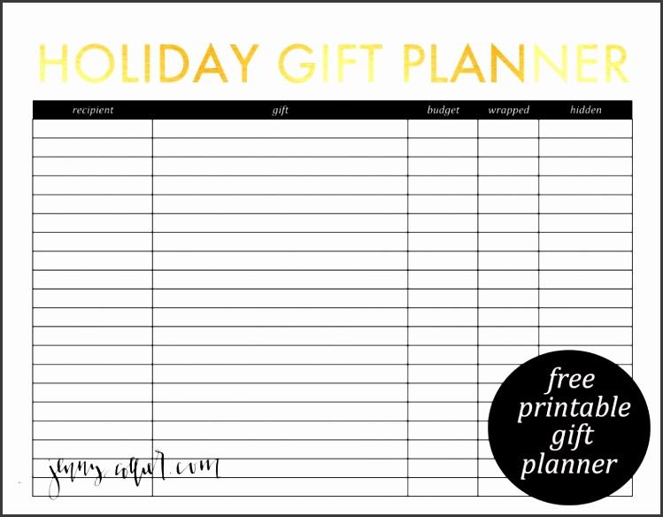 post christmas gift planner printable 383300