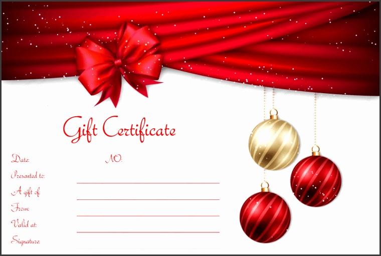Velvet Ribbons Christmas Gift Certificate Template