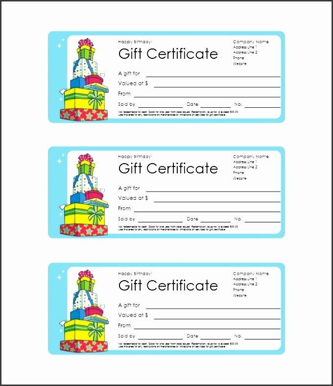 Printable Gift Certificate Template 05