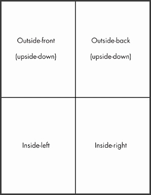folding greeting card template