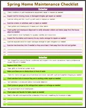Spring home maintenance checklist Spring Home Maintenance Checklist for Home Mgt Notebook