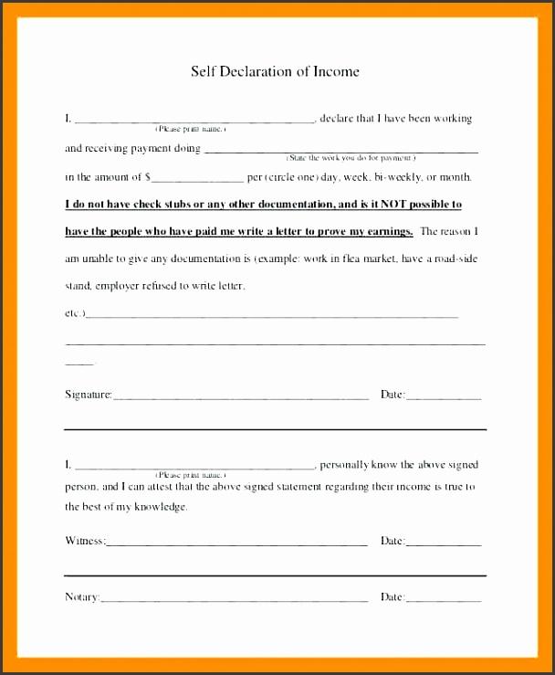 in e verification letter self declaration letter self declaration of in e verification self employed in e verification letter