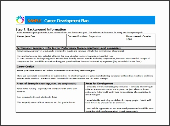 5 individual career development plan template for Employee professional development plan template