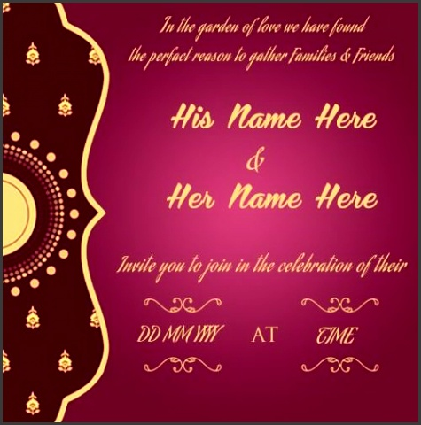 Create Wedding Invitation Card Wedding Invitation Card Designs line Simplest Template line Toot Creator Inviation Free