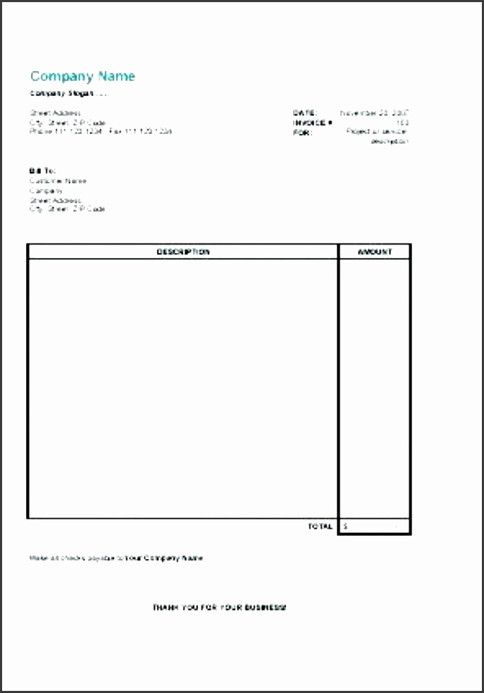 Invoice Template For Self Employed SampleTemplatess - Free invoice template : self employed invoice template