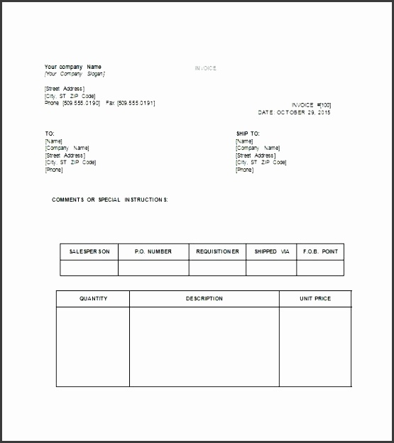 10 Invoice Template Word Download