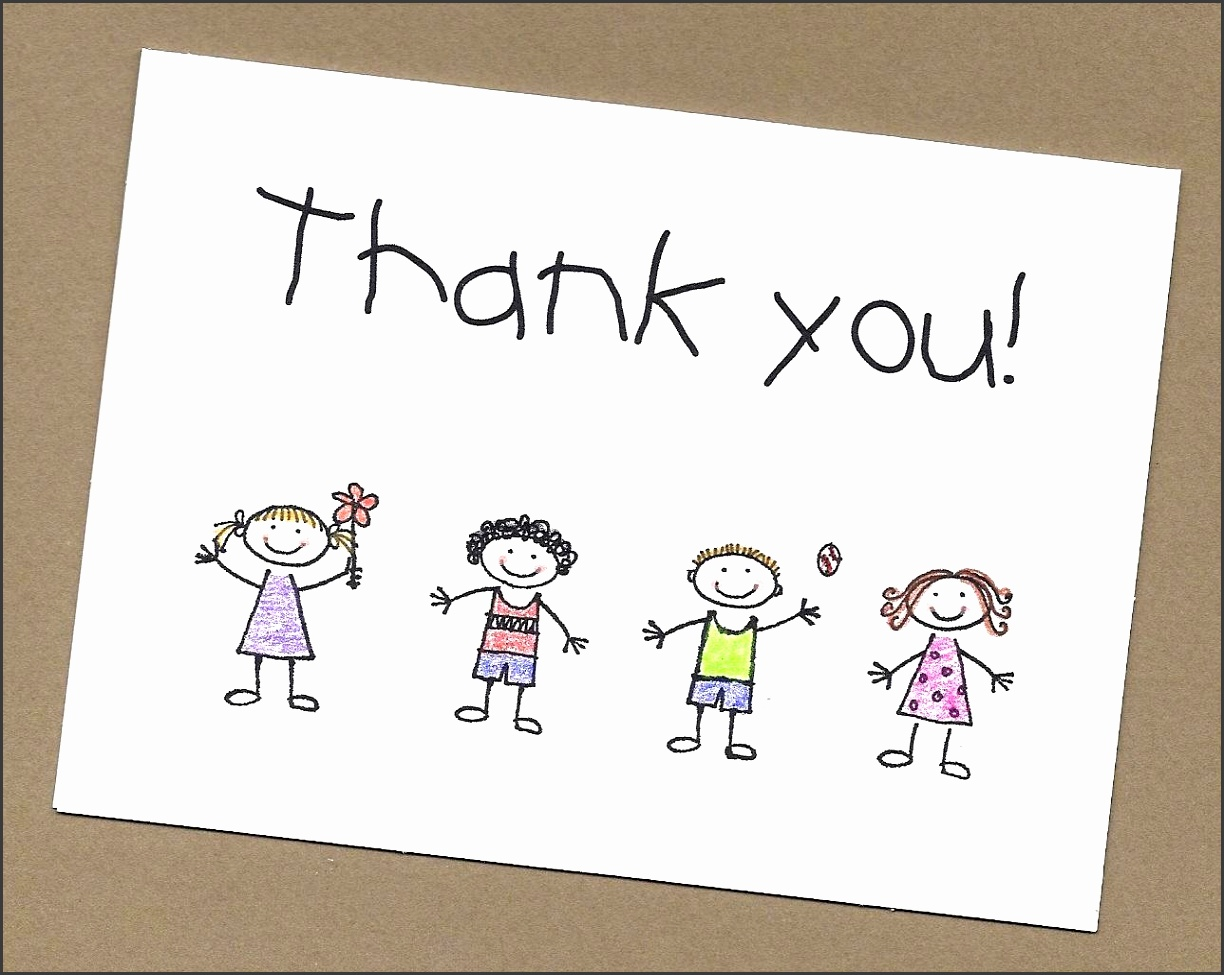 Kid Made Funny Background Design White Colour Thank You Cards From Kids Tested And Approved Simple
