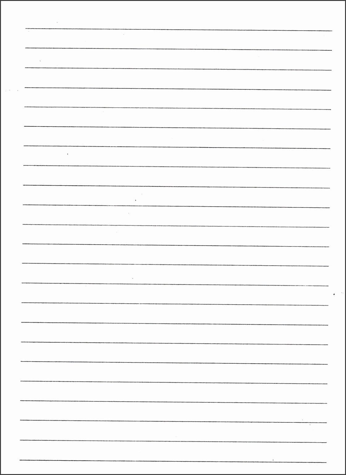 8 kindergarten lined paper template