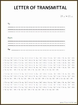 Letter Transmittal Template Excel Transmittal Letter Template Kimak