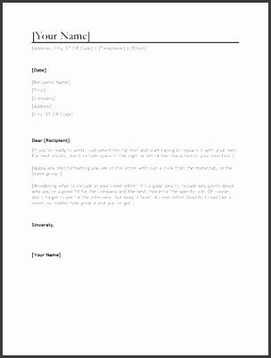 CV cover letter Word