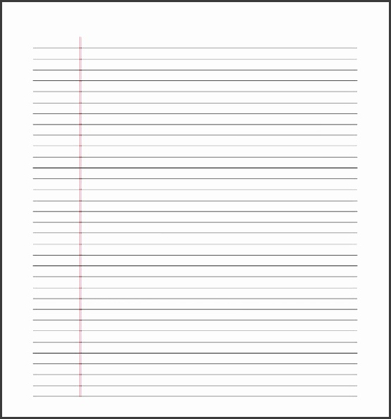 Free Lined Paper Template PDF Download  Lined Paper Microsoft Word Template