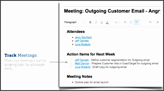 Pro tip Create a Meeting Agenda template