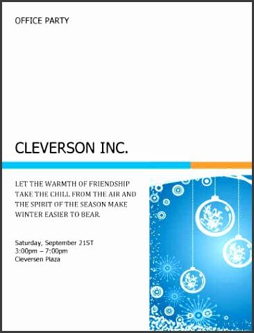 Microsoft Office Party Invitation Templates SampleTemplatess - Winter party invitation template free
