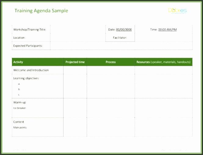 Training Agenda Template Featured Image