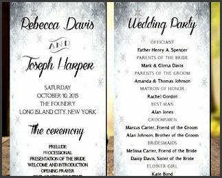 Winter Wedding Program Modern Wedding program Rustic Wedding Program Printable Wedding Program
