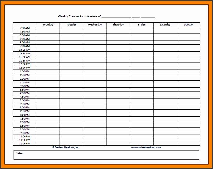 7 monthly attendance sheet template