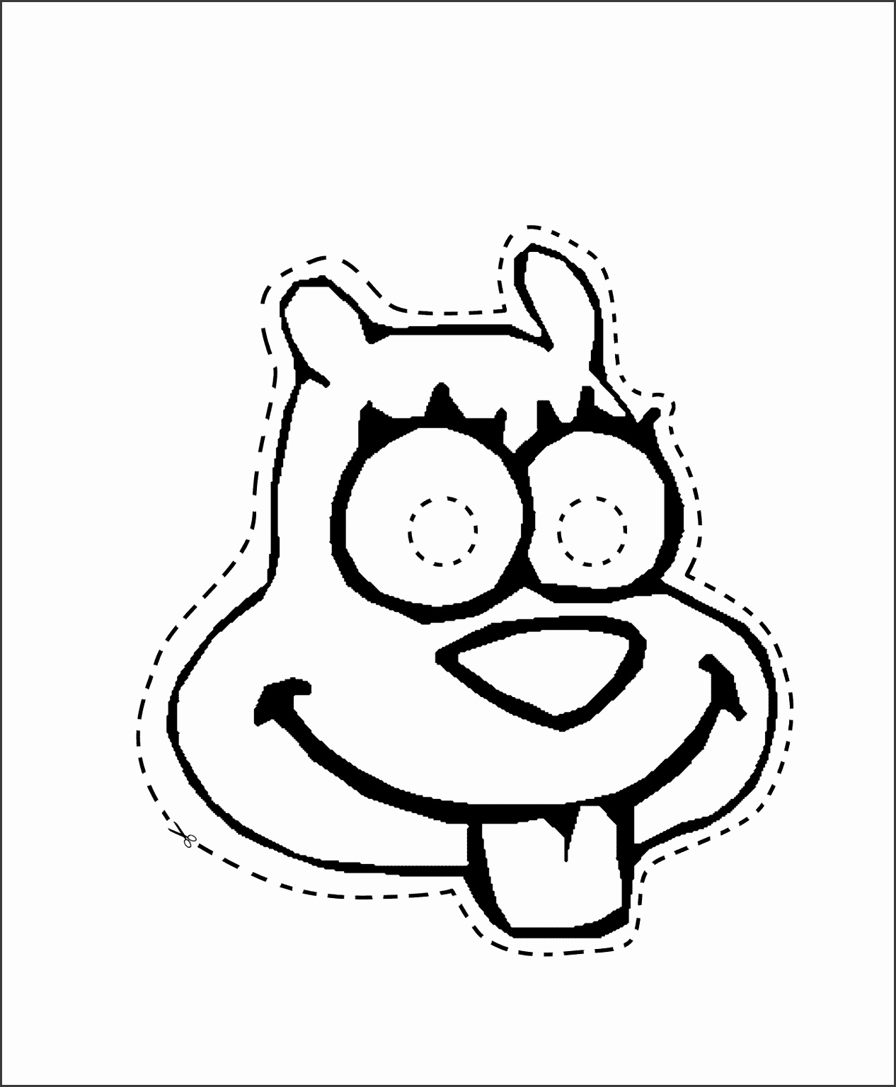 squirrelmask Colouring Pages