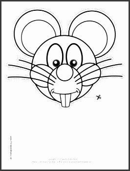 Mouse Mask to Color Printable Mask