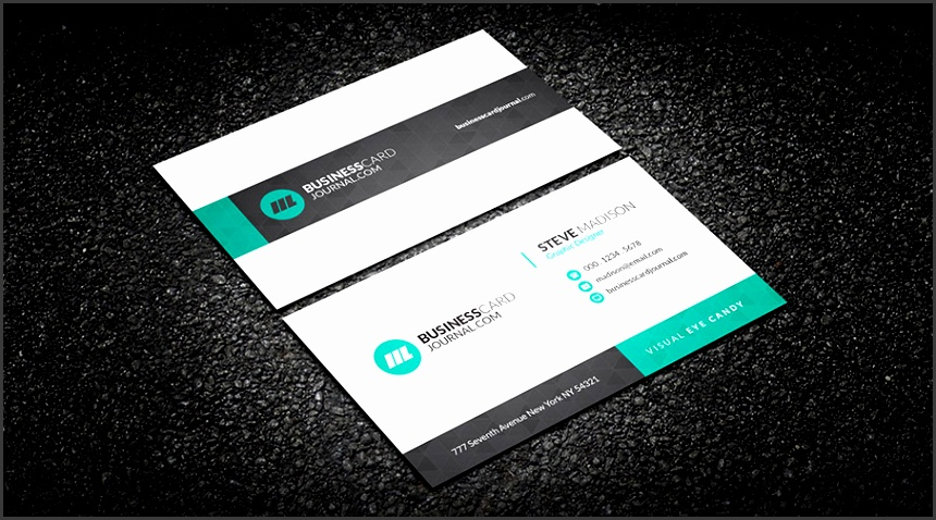 Free Subtle Geometric Corporate Business Card Template