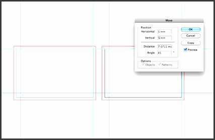 The business card template
