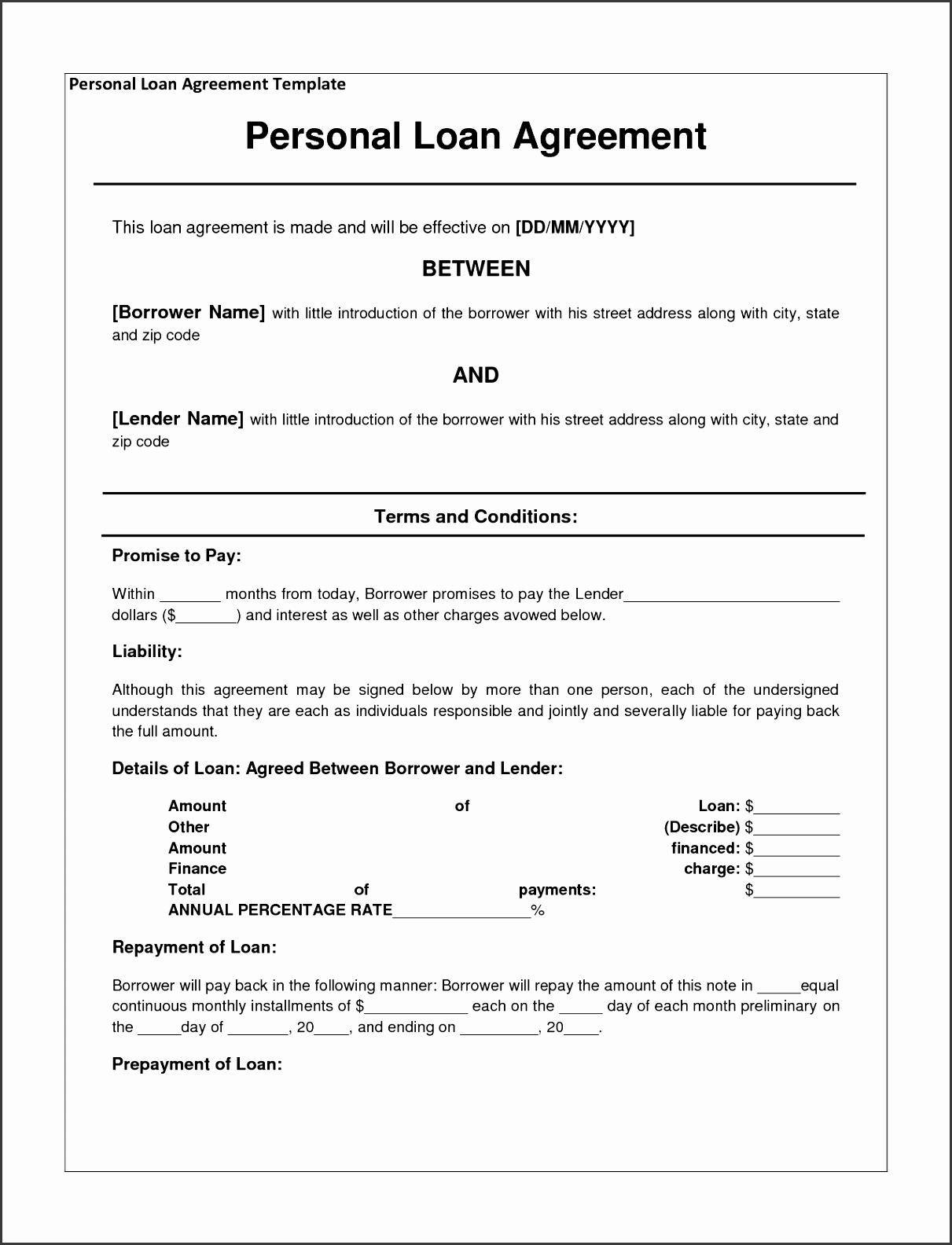 Loan Agreement Free Template tario Secured Promissory Note Payment For Between Friends 1280