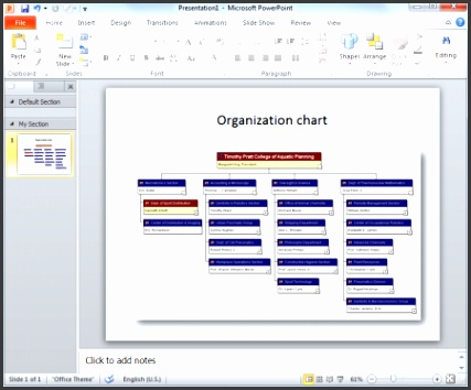 organization chart powerpoint