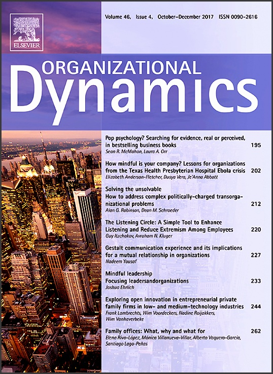 Cover image Organizational Dynamics