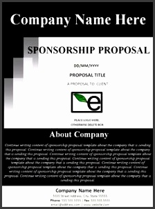 Sponsorship Proposal Template I like the about section on the cover page