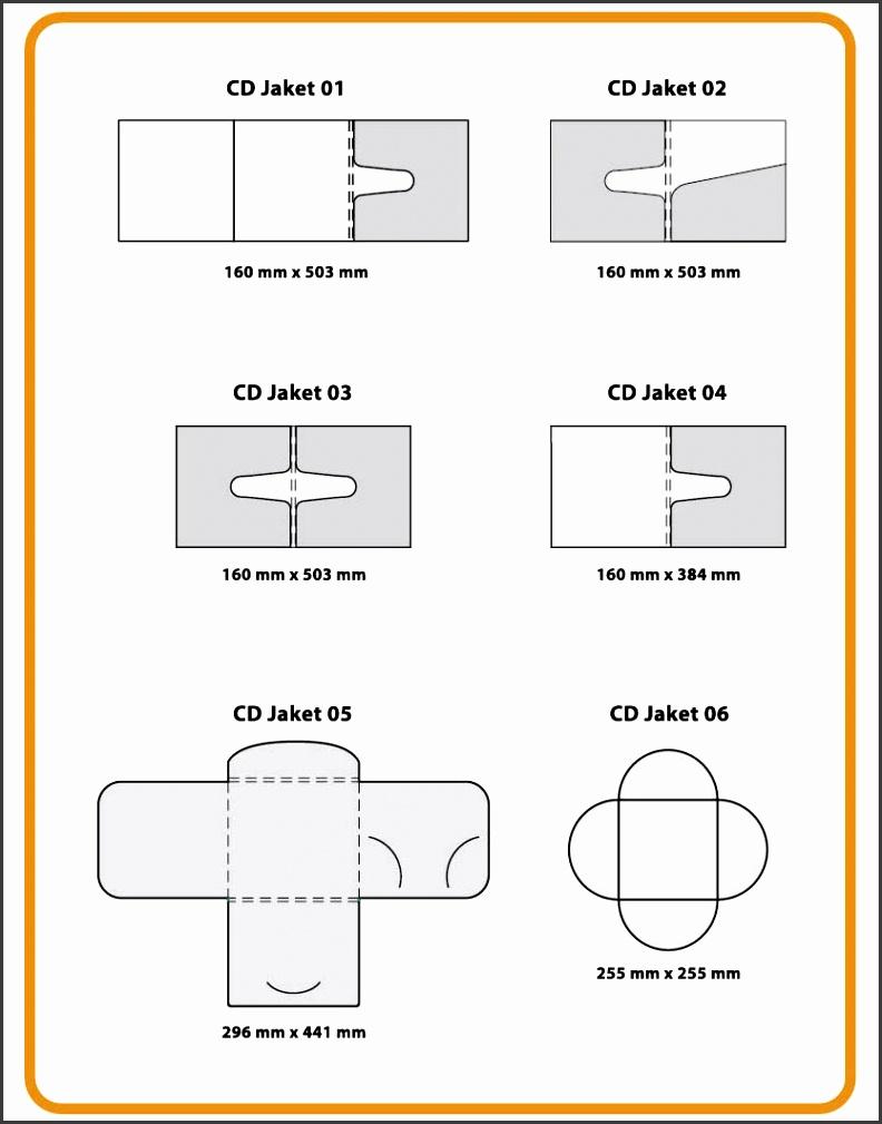Cd Paper Case Template Design Full size