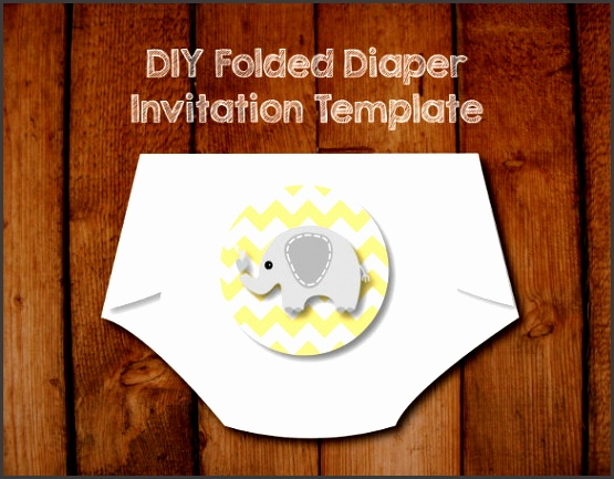 Printable Baby Shower Diaper Invitation Template