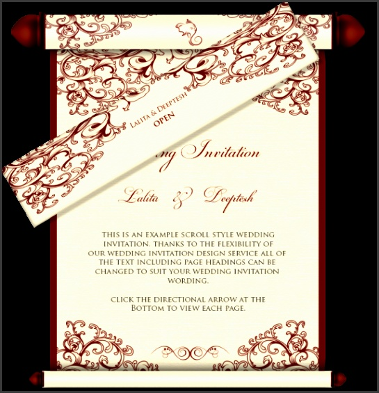 wedding scrolls template